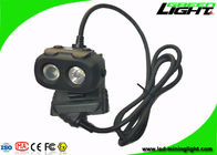 Dual Beam LED Mining Cap Lights 15000lux 10.4Ah Panasonic Battery Antistatic Matetial