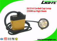 Coal Mining Cap Lights Hard Hat 10.4AH IP68 25000lux High Beam With 2A Charger