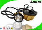 10.4Ah Battery Mining Cap Lights 25000lux Brightness Cable Flashing Headlamp
