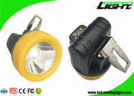 China Magnetic Charging 10000lux Underground Miner Cap Lamp Small Size IP68 3.8Ah Battery factory
