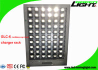 China GLC-6 Single Side 60 Units Cordless LED Miners Cap Lamp Charging Station 110V-240V factory