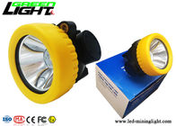 China ABS Material Rechargeable Cordless Mining Cap Lamps CREE Light Source 5000lux Brightness factory