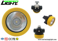 China Light Weight LED Miners Cap Lamp Small Size 5000lux 2.2Ah Battery Capacity factory
