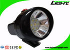 Lightweight Mining Cap Lights 4000 Lux Plug - In Charging With Helmet Bracket