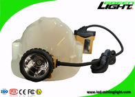 Aluminum Miners Cap Rechargeable LED Headlamp IP68 10.4Ah SAMSUNG Battery High Safety
