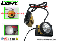 High Power LED Miners Cap Lamp Impact Resistant For Underground Lighting Safety