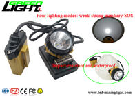 25000lux Afety Wire Cap Led Mining Lamp , High Intensity Light Flashing Cap Light