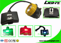6.8Ah Panasonic Battery Rechargeable LED Headlamp With Low Power Warning Safety Rope