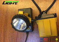 Waterproof Ip68 Rechargeable Led Hard Hat Light , High Power Led Headlamp For Running