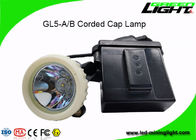Rechargeable Li Ion Battery LED Miners Cap Lamp 10000lux High Beam For Tunnel