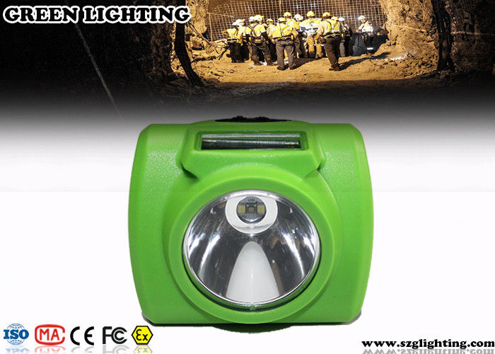 Anti - Explosion Led Mining Lamp , 13000 Lux Hard Hat Lights With USB Charger