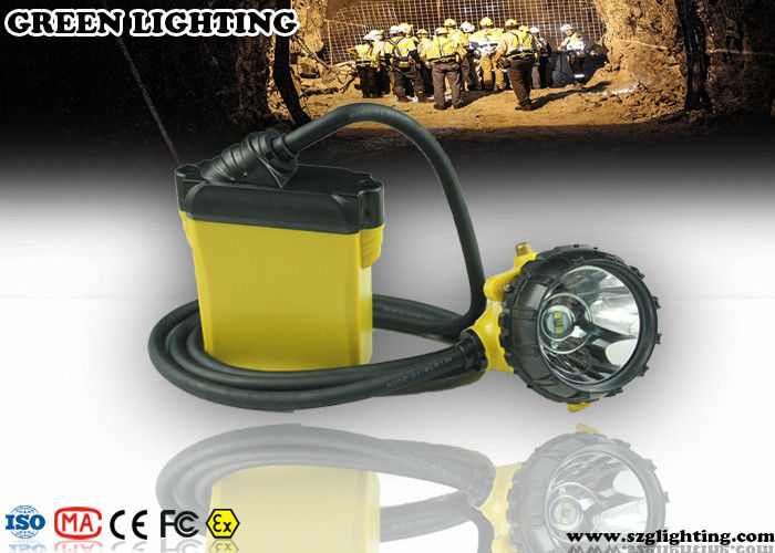 25000 Lux Brightness CREE Miners Helmet Light With Low Power Warning Function