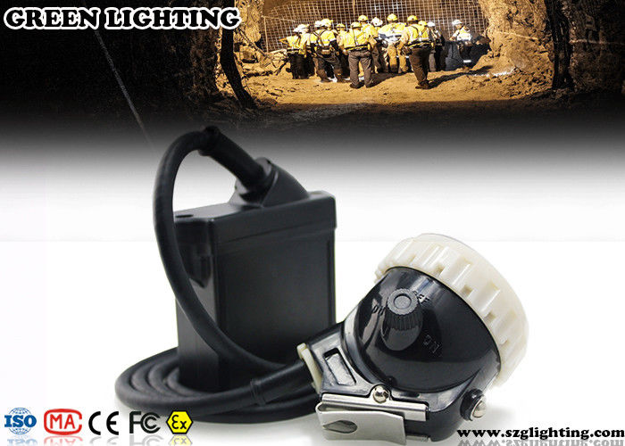 Classic Explosion - Proof PC Hard Hat Headlamp , 6600mAH Cord Style Miners Lamp