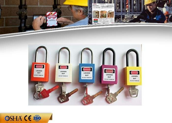 38 Mm Shackle Safety Lockout Padlocks , ABS Material Safety Padlock