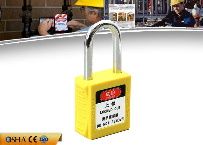 Brass Cylinder Steel Safety Lockout Padlocks with Customized Brand
