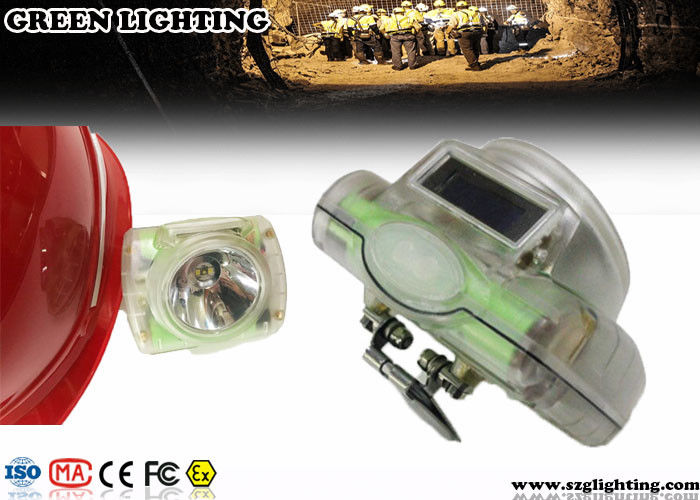 1W 6000Lux Light weight 140g Water Proof LED Mining Light With OLED Screen