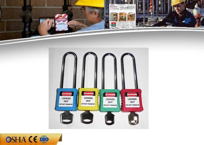 126g ABS Safety Lockout Padlocks CE ATEX  Approval 76 Mm Steel Shackle