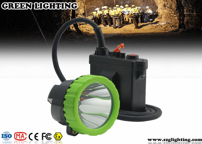 50000 Lux IP67 Led Mining Lamp , 11.2Ah Capacity Battery Coal Mining Lights