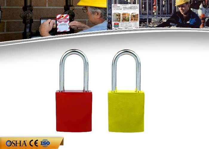 OEM Safety Lockout Padlocks 8 Colors  Aluminum Material 142g Weight