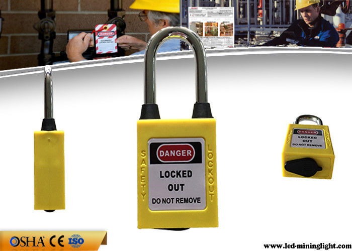 OEM 38mm Steel Dustproof Industrial Safety Lockout Padlocks with Key Alike