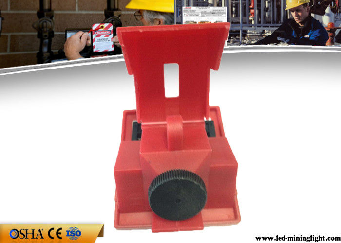 Red Clamp On Circuit Breaker Lockout For 120V - 277V Circuit Breaker