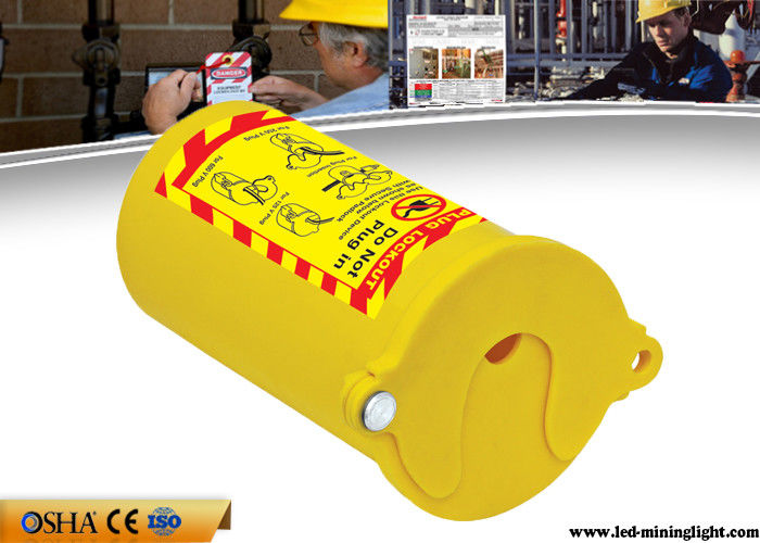 PP Material Lock Out Tag Out  , Yellow Pneumatic Gas Cylinder Lockout Tagout