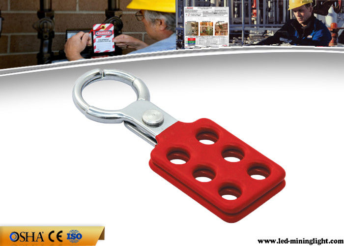 25 Mm Small Size Safety Lock Out Aluminum Lock Hasp With 6 Holes