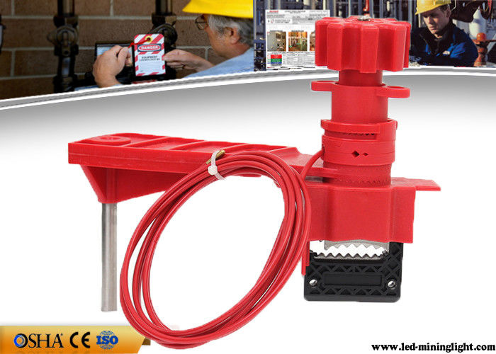 Multi Purpose Red Valve Lock Out Industrial Steel Nylon Material