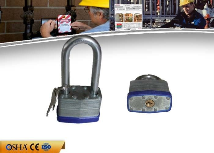 Long shackle Safety Lockout Padlocks High Strength Steel Laminated