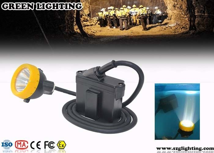 Waterproof Coal Miners Headlamp , 6.2Ah Battery 3W Power LED Mining Lamp