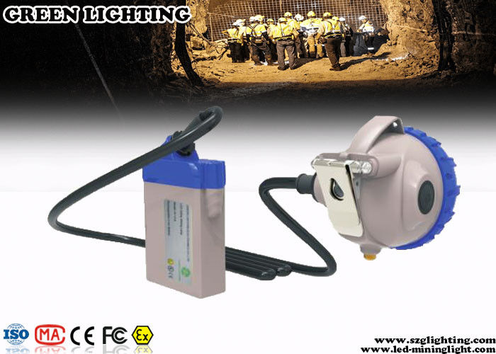 Explosion Proof Mining Cap Lights 25000 Lux Strong Brightness Corded Style