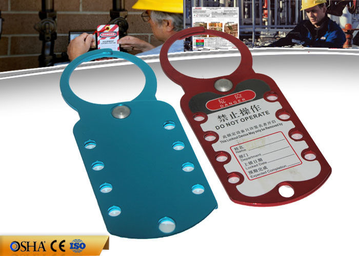 Eight Hole Aluminum HASP Lockout , 180 Mm * 70 Mm 79g Safety Lockout Hasp