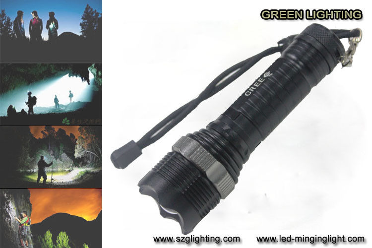 GL-F002 XML-T6 Rechargeable Led Torch , 10W 1200 Lumen Cree Led Flashlight