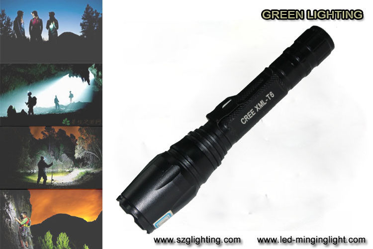 10W Rechargeable Led Flashlight For Hunting / Hiking / Camping / Fishing