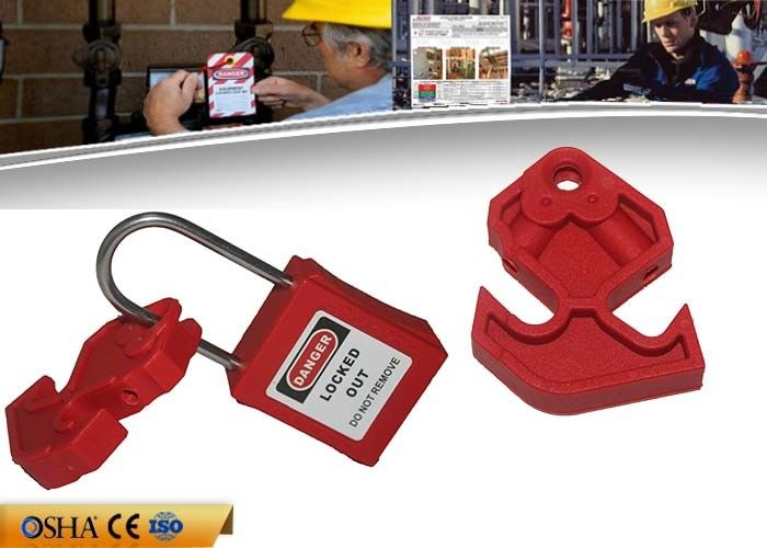 Nylon Material Circuit Breaker Lock , 16g Switch Breaker Lockout Device