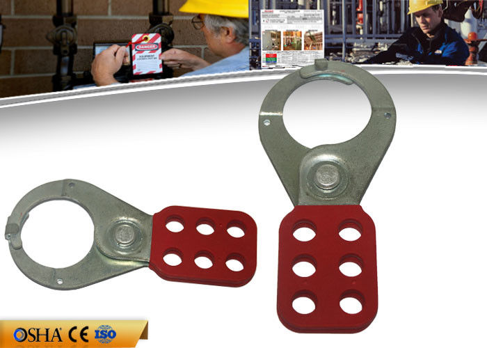 ZC-K21 Economic Steel Lockout Hasp 6 Prying Resistant Hook ABS Coated Body
