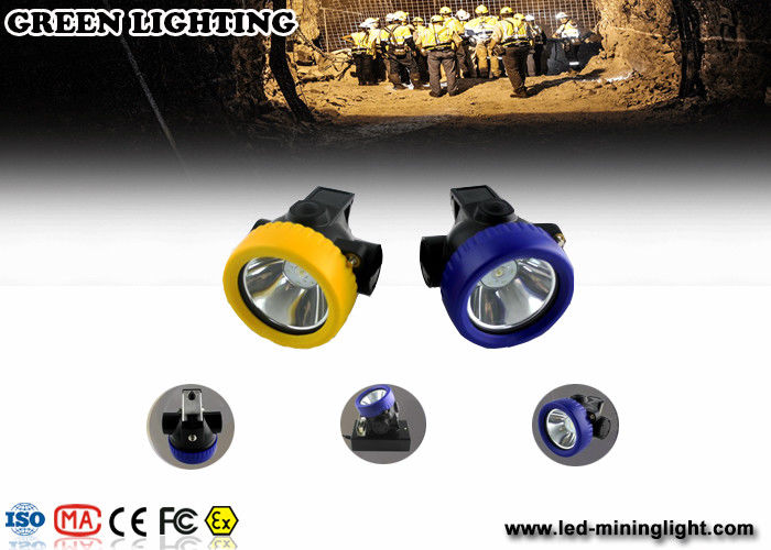 4000 Lux / 2.2ah Led Waterproof Safety Cordless Led Mining Cap Lamp With Li Ion Battery