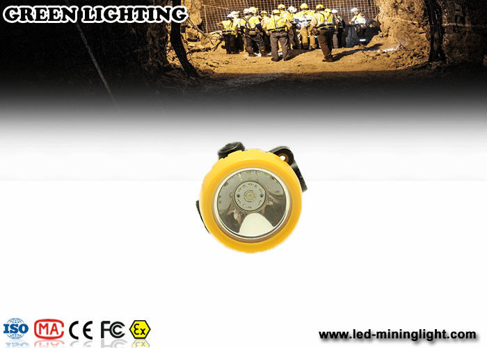 Yellow Wireless Intrinsically Safe Cordless Mining Lights 2.2ah Li - Ion Battery , PP Meterial