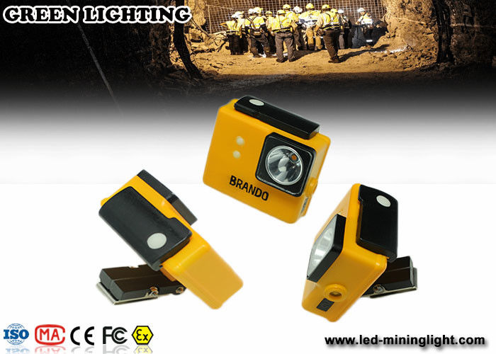 yellow GLC-3A 6000Lux rechargeable safety mining lamp with 3.2Ah battery capacity with photo frame model
