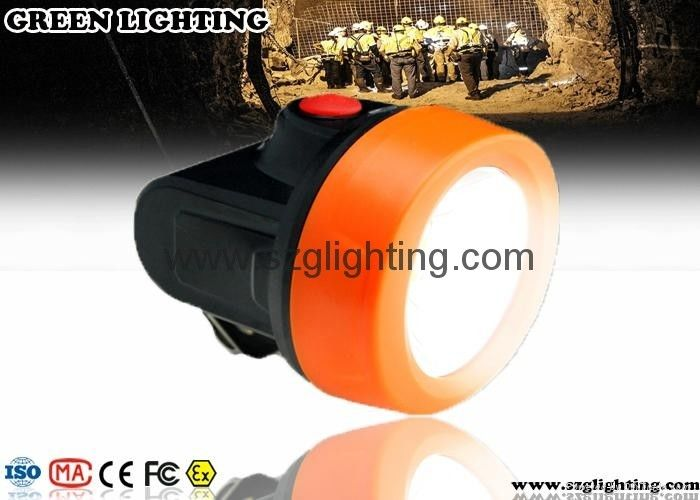 Orange 6000lux LED Mining Light Strong Brightness LED Mining Headlamp 2.8Ah Battery