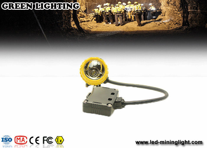 Yellow Water Proof Underground Led Miners Cap Lamp 376g 1.67W IP68