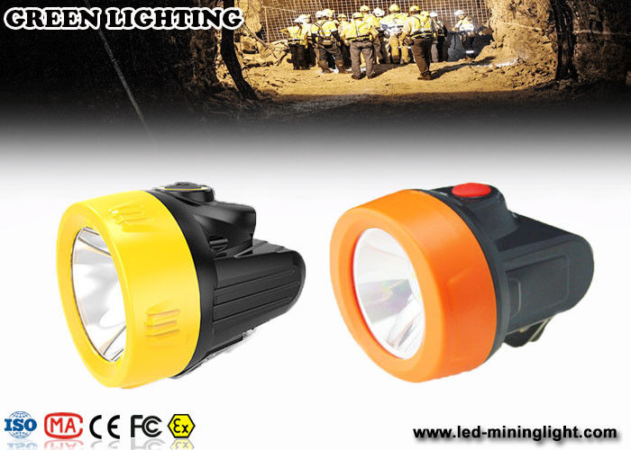 2.8Ah Lithium-ion Battery IP68  LED Miners Headlamp for Hard Hats with Movable Steel Hook