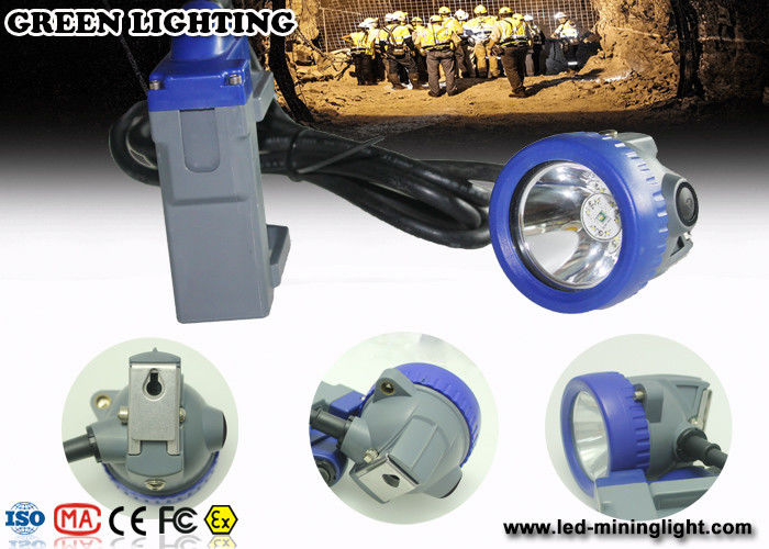 IP68 Waterproof 1.67W Led Cap Lamp Underground Mining​ light With Li Ion Battery