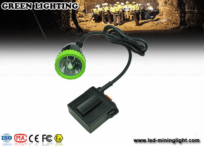 Long wire LED Mining Lamps With 1500mA 3.7V Lithium Battery , Impact Resistant Headlamp