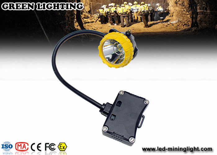 Explosion-Proof PC Rechargeable LED Headlamp , 208lum 15000lux Safety Miners Lights