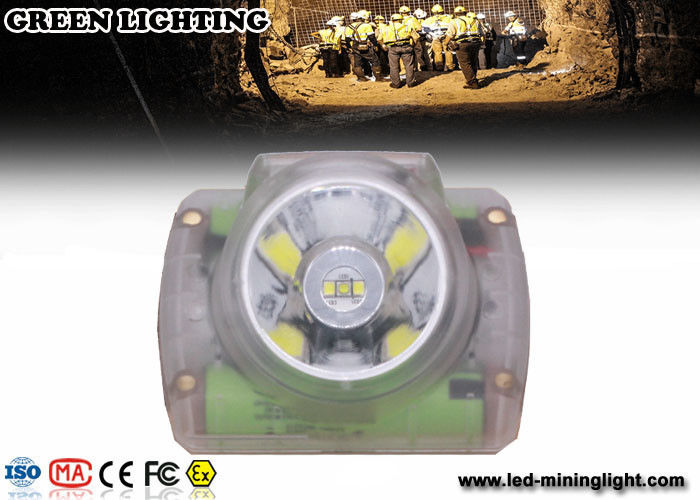Safety Cordless Cap Lamp with Chargeable USB Charger , Msha Approved Coal Miner Headlamp