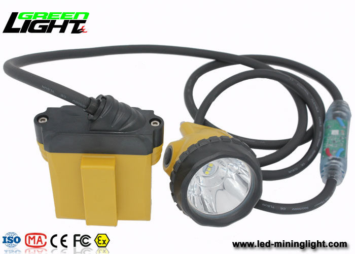 Explosion Proof  IP 68 LED Mining Lamp with Security Cable Light , 28000 Lux Miners Cap Lamp