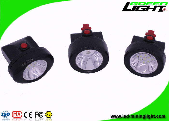 Msha Approved Cordless Mining Cap Lights , Portable Black Miner Lamp with 15 Hours Lighting Time