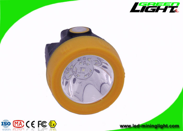 Cree 3.8Ah Coal Miner Cap Lights With Charging Indication 10000 Lux