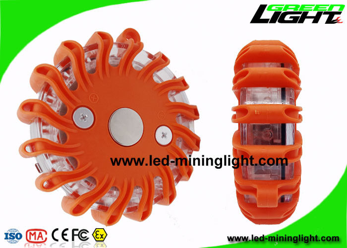 Magnetic Amber Roadside Emergency Warning Lights , Led Roadside Flares